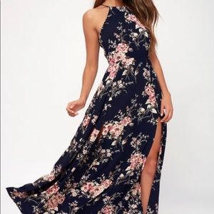 Feel the Music Floral Maxi Dress by Lulu's